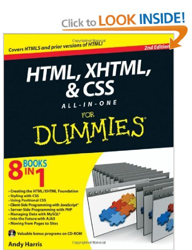 HTML, XHTML& CSS for Dummies
